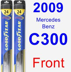 Front Wiper Blade Pack for 2009 Mercedes-Benz C300 - Hybrid