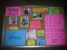 My new motivation board!!!! Makes me excited to workout!!!