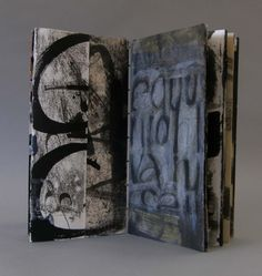 "Laura Wait  From Imminent Struggle, Artist book, painted pages…. about 8"" x 15"","