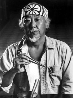 Pat Morita as Mr. Kesuke Miyagi, Karate Kid (1984)