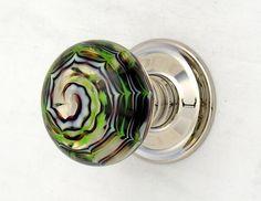 Artisan glass door knob by Merlin Glass