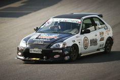 MTek Racing Team Honda Civic EK hatch Time Attack car via mtek.fi (not updated since 2012)