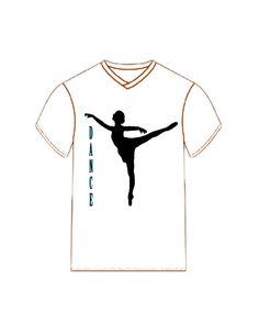 Ballerina Dance Silhouette Tee Shirt by dswygert on Etsy