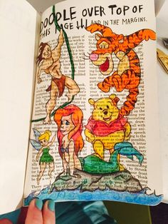 My doodle over the top of this page. Disney themed, my favourite characters