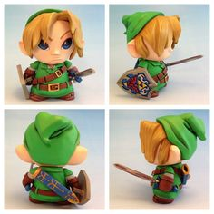 Link - Legend of Zelda - Micro Munny toy by ~Timbone on deviantART