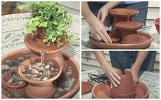 DIY - How To Build a Terra Cotta Fountain in 7 Steps - Garden Lovers Club