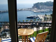 from my window  in Monte Carlo