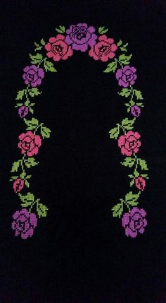 This Pin was discovered by HUZ Cross Stitch Bookmarks, Cross Stitch Rose, Cross Stitch Flowers, Cross Stitch Charts, Cross Stitch Patterns, Cross Stitching, Cross Stitch Embroidery, Embroidery Patterns, Quilt Patterns