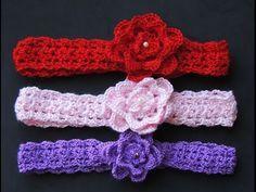 Vincha a Crochet Diadema Ykita Tutorial por Maricita Colours Subtitles English Crochet Doily Rug, Crochet Headband Pattern, Crochet Wool, Quick Crochet, Crochet Mittens, Crochet For Kids, Crochet Flowers, Learn Crochet, Diy Beauty Hacks