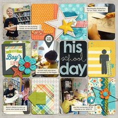 Block Party Vol. 2 Templates by Nettio Designs Life Stories: This Boy Collection by Kristin Cronin-Barrow & Zoe Pearn
