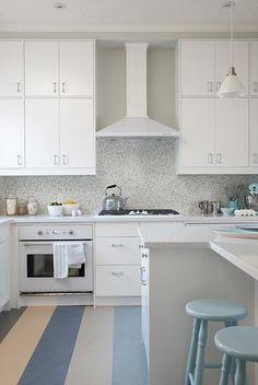 sarah richardson sarah 101 kitchen stripe floor blue