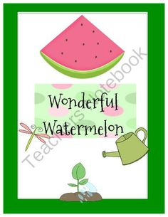 Holding onto Summer - I am not ready to say goodbye to summer so I am giving my watermelon unit away..  A GIVEAWAY promotion for Wonderful  Watermelon from Fun and Fancy Free in First Grade on TeachersNotebook.com (ends on 8-31-2013)