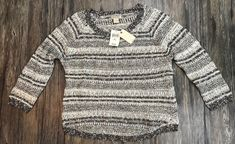 Lucky Brand Sweater Textured Pullover New With Tags Size XL 75G  | eBay