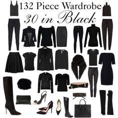 Based on Project 333 - 33 items per season, 4 season = 132 items Minimal Wardrobe, Black Wardrobe, Wardrobe Basics, New Wardrobe, Capsule Wardrobe, Work Wardrobe Essentials, Office Wardrobe, Perfect Wardrobe, Office Outfits