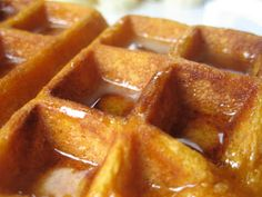 Sweet Potato Waffles, without syrup for Cooper