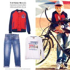 TIFFOSI KIDS - Nova Coleção Primavera 2014  Jeans: http://www.tiffosi.com/calcas-de-ganga-nick-regular-20431.html Blusão:http://www.tiffosi.com/casaco-21788.html T-Shirt: http://www.tiffosi.com/crianca/rapaz/t-shirts/t-shirt-s-l-s-branco-20302.html  #tiffosi #tiffosidenim #tiffosikids #newcollection #novacoleção #denim #primavera #spring #newin #boy #kids