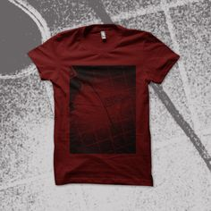 estampa monocromática usando cor da camiseta como base.