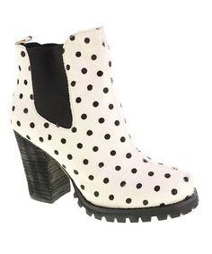 Look what I found on #zulily! Black & White Brash Pony Leather Bootie #zulilyfinds