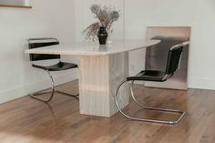 Linen Duvet, Echo Park, Mid Century House, Flat Sheets, Vintage Furniture, House Tours, Minimalism, Dining Table, Store