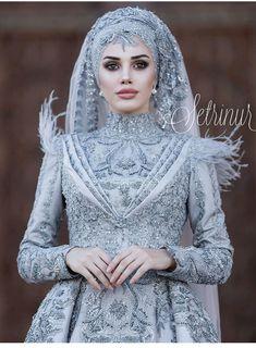 nişan elbise modelleri 2019 tesettür You can find different rumors about the real history of the wedding dress; Hijabi Wedding, Muslimah Wedding Dress, Muslim Wedding Dresses, Muslim Brides, Muslim Dress, Bridal Dresses, Muslim Girls, Muslim Couples, Beautiful Hijab