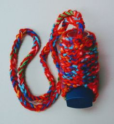 CHILDS PUFFER-POUCH LANYARD 55mm  INHALER HOLDER/CASE HAND CRAFTED, QUALITY YARN Pouches, Health And Beauty, Children, Crafts, Young Children, Boys, Manualidades, Kids, Handmade Crafts