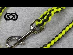 How to make a Reflective Paracord Dog Leash Tutorial (Paracord 101) - YouTube