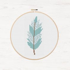 Pastel Colour Tribal Feather Pattern Cross Stitch от Stitchonomy
