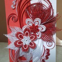 "15 kedvelés, 2 hozzászólás – Kiss Emese (@eme.kiss83) Instagram-hozzászólása: ""#quillingart #quilling #quillingpaper #papercraft #craft #paper #redwhite #quillingflowers #flowers"" Quilling Flowers, Red And White, Card Making, Paper Crafts, Garden, Instagram Posts, How To Make, Color, Quilling"