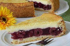 Der beste aller Kirschkuchen von cruzy | Chefkoch.de German Cake, Cake & Co, Pudding Desserts, Frozen Fruit, Almond Cakes, Fruit Recipes, Cheesecake, Clean Eating, Food And Drink