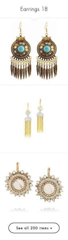 """""""Earrings 18"""" by coollavinia ❤ liked on Polyvore featuring jewelry, earrings, accessories, boho, gold, turquoise earrings, gold earrings, turquoise gold earrings, green turquoise earrings and gold hook earrings"""