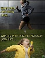 Doesn't matter what you look like, just do it! ... or run in the morning so noone is awake to see you. lol