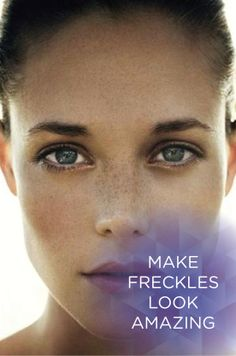 Check out these makeup tips to make your freckles look stunning!