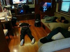 The sleeping NKOTB!!!!