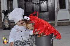 Lobster Dog and Baby Chef Costume...