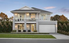 Lyndhurst Marriott Waters Display Homes Style At Home, Facade Design, Exterior Design, Hamptons Style Homes, Suburban House, House Paint Exterior, Display Homes, Facade House, Modern House Design