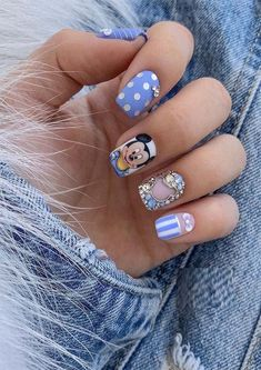 With these beautiful nail designs you may feel you look fabulous and cute. Just see here and explore the sensational designs of nails arts for short nails. We have selected ideas for modern nail designs here that have varieties of best nails patterns for Mickey Mouse Nail Art, Mickey Mouse Nails, Cherry Nail Art, Green Nail Art, Nail Art At Home, Modern Nails, Nail Patterns, Rainbow Nails, Beautiful Nail Designs