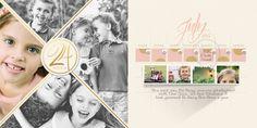 Digital Scrapbooking Calendar Template: Perpetual 8501 by Brandy Murry at ScrapGirls.com