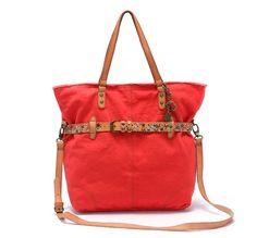 Women's Shoulder Bag with Rivets Detail