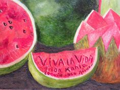 Mexico City - Museo Frida Kahlo - Viva la Vida Frida Kahlo Coyoacan 1954 Mexico City - Frida's last painting - SoloTripsAndTips.com