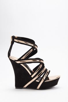 bf723b65f390 Forever 21 Product Name Strappy Platform Wedges
