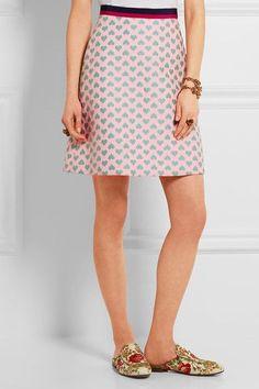 Gucci for NET-A-PORTER - Jacquard Mini Skirt - Pastel pink - IT