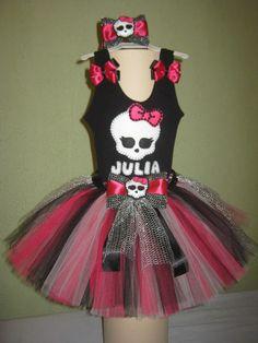 Fantasia De Tutu Monster High Com Collant Regata - R$ 117,00 no MercadoLivre