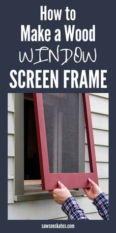 How to Make DIY Wood Window Screens (Free Plans!) is part of - Learn how to make windows screens! Use this step by step tutorial, a few pieces of wood and some simple tools to build your own DIY window screen frame! Window Screen Frame, Screen Doors, Diy Window Screens, Window Blinds, Window Screen Repair, Diy Hanging Shelves, Wood Windows, Diy Windows, Diy Holz