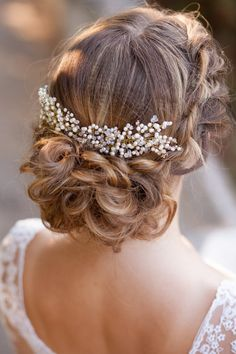 Wedding hair comb Pearl bridal comb Bridal by AnnAccessoriesStudio
