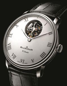 Blancpain Villeret Flying Tourbillon platinum case enamel dial