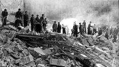 Consecuencias de un bombardeo sin objetivo militar de la aviación ítalo-germana, el 17 de marzo de 1938, que provocó más de 1.000 víctimas civiles en BarcelonaARCHIVO-ABC