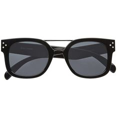 Witchery Elsa Sunglasses ($61) ❤ liked on Polyvore featuring accessories, eyewear, sunglasses, aviator glasses, dark wayfarer sunglasses, wayfarer style sunglasses, thick rimmed glasses and thick glasses