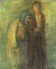 Mednyánszky Ladislav/László : Stará žobráčka so slepým synom Auction, Gallery, Painters, Artist, Roof Rack, Artists