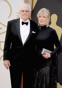 Veteran actor Bruce Dern who was nominated for best supporting actor dons a sophisticated black tux. #Oscars2014