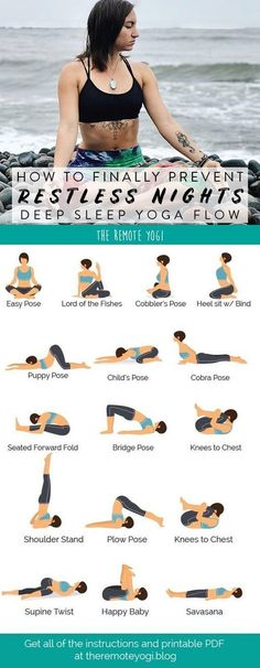 Do you ever find yourself restless in bed at night, a random Backstreet boy's song is stuck in your head, and you watch each minute tick by? Doing a bedtime yoga sequence is an… Bed Yoga, Yoga Bewegungen, Sleep Yoga, Bedtime Yoga, Yoga Meditation, Yoga Flow Sequence, Yoga Sequences, Yoga Poses, Pilates Training